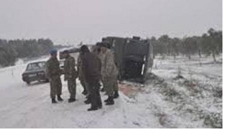 askeri araç devrildii